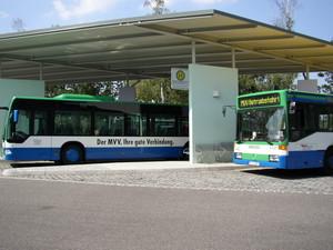 Busse am Busbahnhof