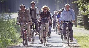 Foto mit Fahrradfahrern